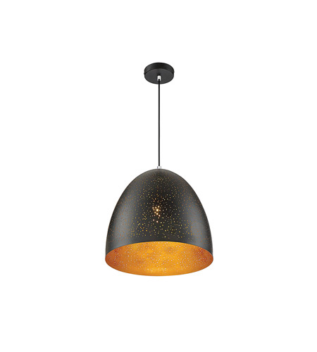 Savoy House 7-800-1-126 Graham 1 Light 16 inch Black with Gold Leaf Pendant Ceiling Light alternative photo thumbnail