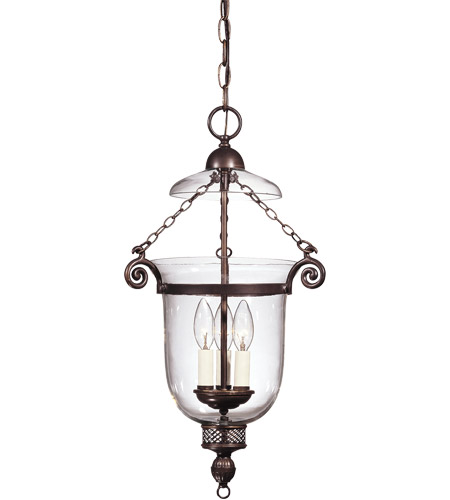 Savoy House 7-80023-3-323 Crabapple 3 Light 13 inch Old Bronze Pendant Ceiling Light in Clear photo