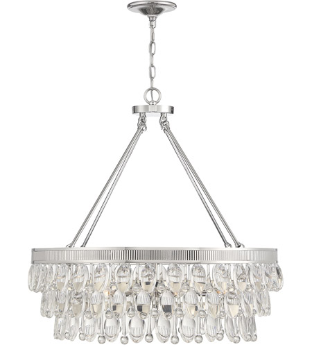 Savoy House 1-8702-8-109 Windham 8 Light 38 inch Polished Nickel Linear Chandelier Ceiling Light photo thumbnail