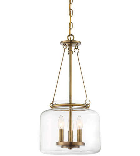 Savoy House 7-9006-3-322 Akron 3 Light 12 inch Warm Brass Pendant Ceiling Light photo