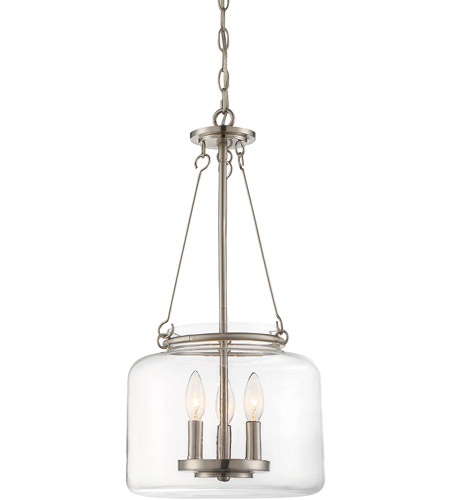 Savoy House 7-9006-3-SN Akron 3 Light 12 inch Satin Nickel Pendant Ceiling Light photo