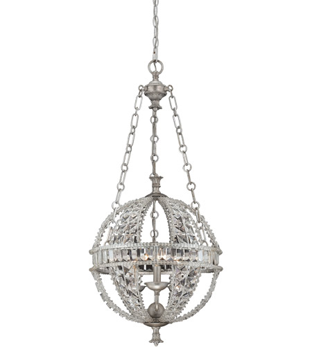 Savoy House 7-9130-3-332 Guilder 3 Light 16 inch Heirloom Silver Pendant Ceiling Light photo