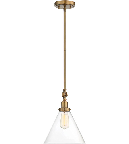Savoy House 7-9132-1-322 Drake 1 Light 10 inch Warm Brass Pendant Ceiling Light photo
