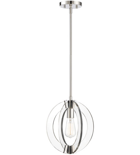 Savoy House 7-9160-1-109 Epsilon 1 Light 12 inch Polished Nickel Pendant Ceiling Light photo