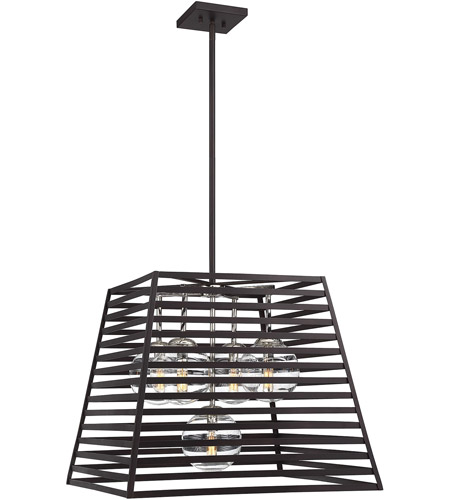 Savoy House 7 9170 5 108 Lakewood Light 24 Inch Bronze With Stainless Steel Pendant Ceiling