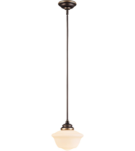 Savoy House 7-9345-1-323 School House 1 Light 9 inch Old Bronze Pendant Ceiling Light in Pale Cream photo