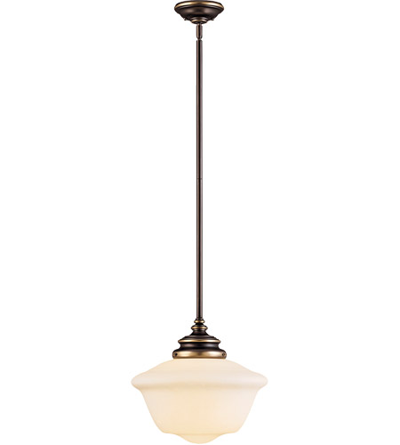 Savoy House Classic Schoolhouse Designs 1 Light Pendant in Old Bronze 7-9346-1-323