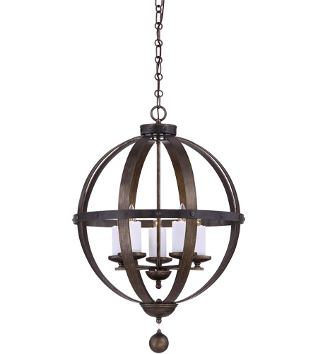 Savoy House Alsace 5 Light Pendant in Reclaimed Wood 7-9534-5-196