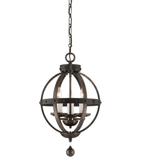 Savoy House Alsace 3 Light Pendant in Reclaimed Wood 7-9541-3-196 photo