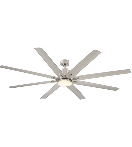 Savoy House 72-5045-8SV-SN Bluffton 72 inch Satin Nickel with Silver Blades Outdoor Ceiling Fan photo