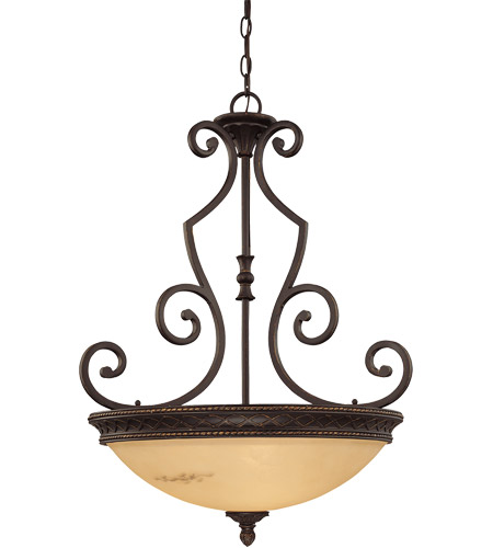 Savoy House 7P-50202-3-16 Knight 3 Light 24 inch Antique Copper Pendant Ceiling Light, Bowl photo