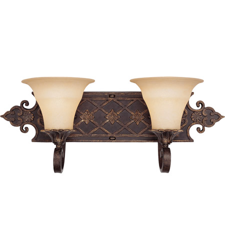 Savoy House Southerby 2 Light Vanity Light in Florencian Bronze 8-0160-2-76 photo