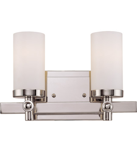 Savoy House 8-1028-2-109 Manhattan 2 Light 12 inch Polished Nickel Bath Bar Wall Light photo