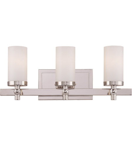 Savoy House 8-1028-3-109 Manhattan 3 Light 19 inch Polished Nickel Bath Bar Wall Light photo