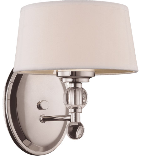Savoy House 8-1041-1-109 Murren 1 Light 8 inch Polished Nickel Bath Sconce Wall Light photo