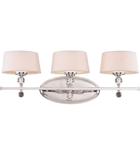 Savoy House Murren 3 Light Vanity Light in Polished Nickel 8-1041-3-109
