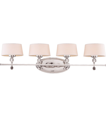 Savoy House Murren 4 Light Vanity Light in Polished Nickel 8-1041-4-109