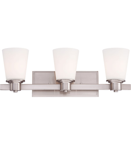 Savoy House Fontaine 3 Light Vanity Light in Satin Nickel 8-1080-3-SN