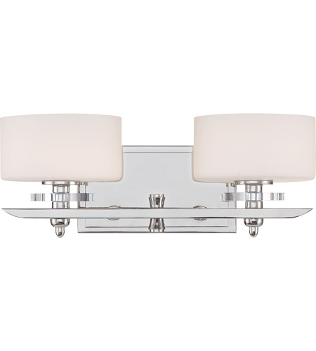 Savoy House Oneida 2 Light Vanity Light in Polished Nickel 8-1900-2-109