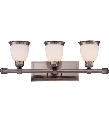 Savoy House Retro Thunder 3 Light Bath Bar in Brushed Pewter 8-20036-3-187 photo