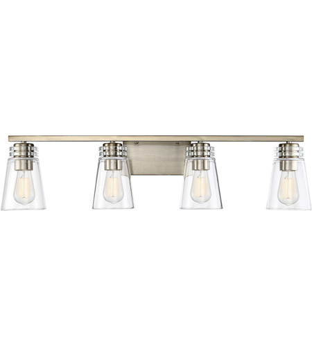 Savoy House 8-2148-4-127 Brannon 4 Light 34 inch Noble Brass Bath Bar Wall Light photo