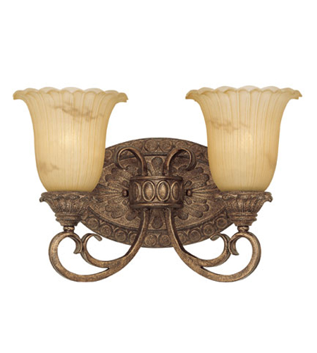 Savoy House Chestatee 2 Light Vanity Light in Crackled Gold Finish 8 ...