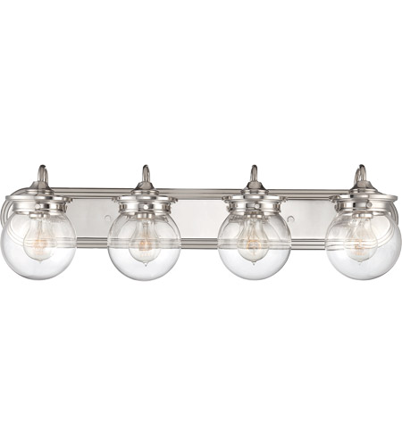 Savoy House 8-232-4-109 Downing 4 Light 30 inch Polished Nickel Bath Bar Wall Light in Clear photo