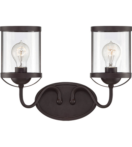 Glass Bergen Bathroom Vanity Lights