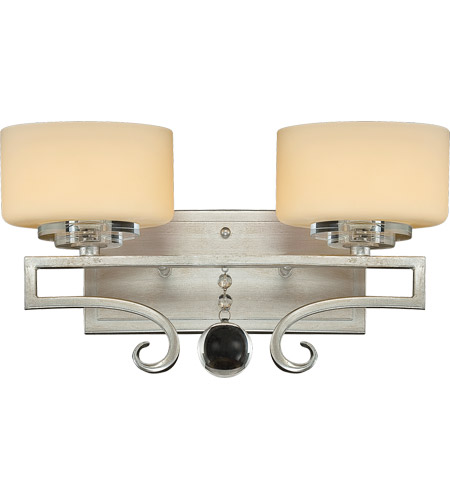 Savoy House 8-257-2-307 Rosendal 2 Light 15 inch Silver Sparkle Bath Bar Wall Light in Pale Cream photo