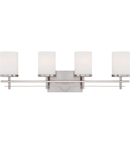 Savoy House Colton 4 Light Vanity Light in Satin Nickel 8-338-4-SN