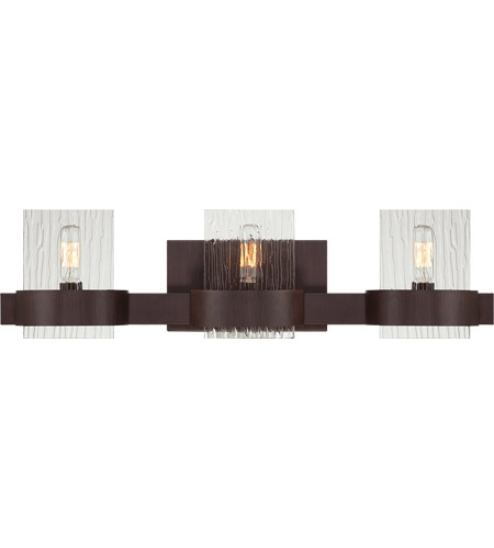 Savoy House 8-3512-3-129 Brione 3 Light 24 inch Espresso Bath Bar Wall Light in Hammered photo