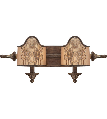 Savoy House Windsor 2 Light Vanity Light in Fiesta Bronze with Gold Highlights 8-3954-2-124 photo