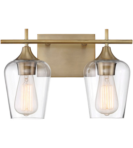Savoy House Octave Light Inch Warm Brass Bath Bar - Savoy bathroom light fixtures