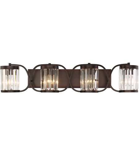 Savoy House 8-4063-4-28 Nora 4 Light 36 inch Oiled Burnished Bronze Bath Bar Wall Light photo