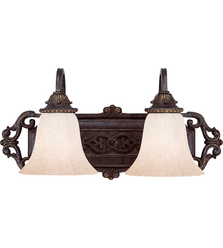 Savoy House Cordoba 2 Light Vanity Light in Antique Copper 8-4095-2-16 photo