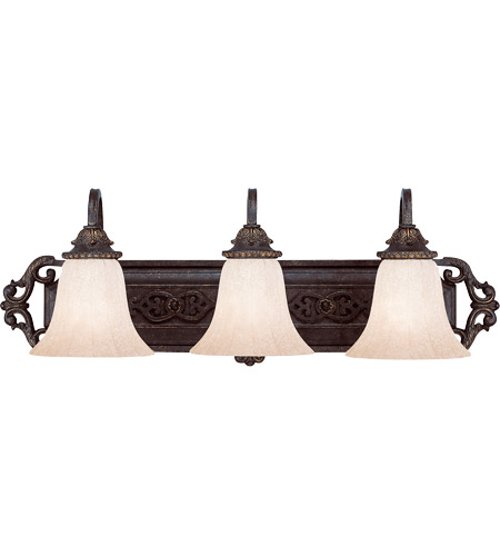 Savoy House Cordoba 3 Light Vanity Light in Antique Copper 8-4095-3-16 photo