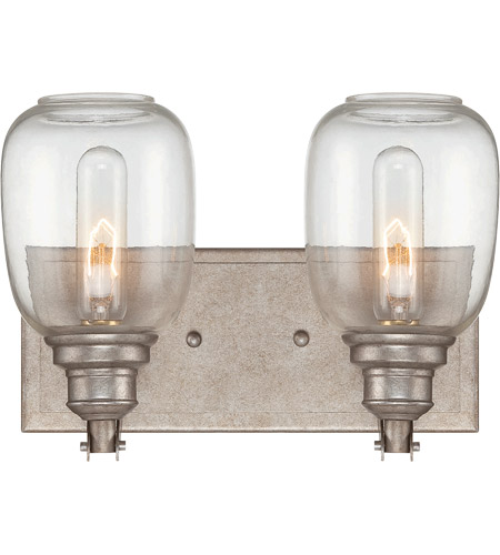 Savoy House 8-4334-2-27 Orsay 2 Light 12 inch Industrial Steel Bath Wall Light in Clear photo