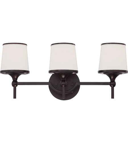 Savoy House 8-4385-3-13 Hagen 3 Light 21 inch English Bronze Bath Bar Wall Light photo