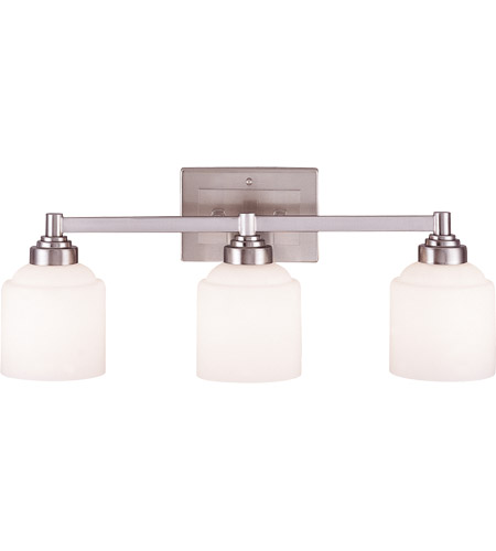Savoy House 8-4658-3-69 Wilmont 3 Light 24 inch Pewter Bath Bar Wall Light in White Opal Etched photo