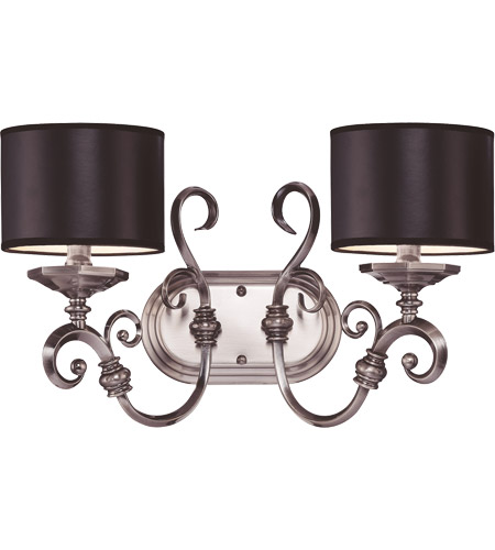 Savoy House Mont La Ville 2 Light Vanity Light in Brushed Pewter 8-5690-2-187 photo