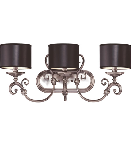 Savoy House Mont La Ville 3 Light Vanity Light in Brushed Pewter 8-5690-3-187 photo
