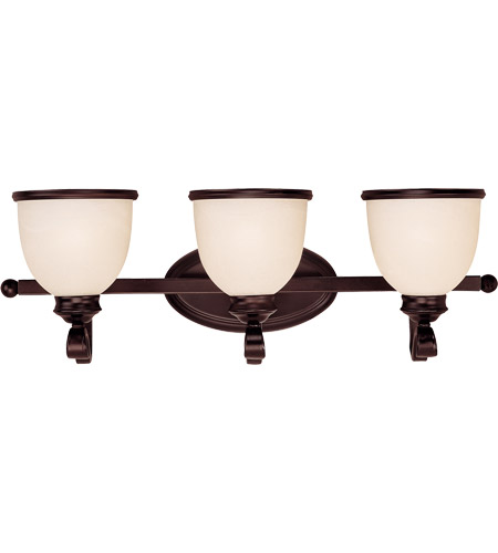 Savoy House 8-5779-3-13 Willoughby 3 Light 25 inch English Bronze Bath Bar Wall Light in Cream Marble photo