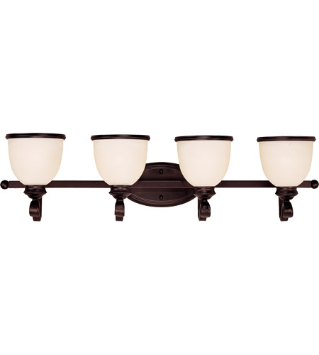 Savoy House 8-5779-4-13 Willoughby 4 Light 34 inch English Bronze Bath Bar Wall Light in Cream Marble photo