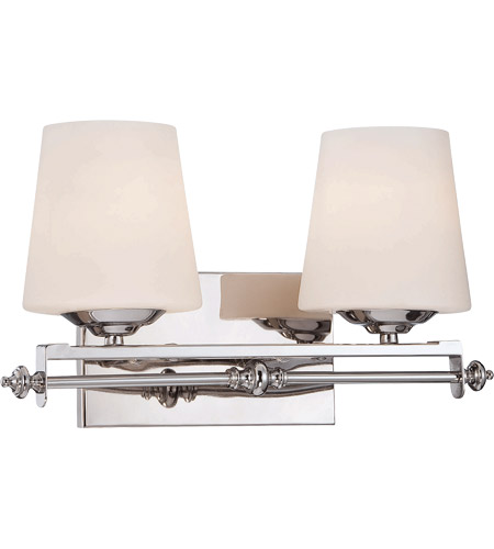 Savoy House 8-5850-2-11 Aiden 2 Light 16 inch Polished Chrome Bath Bar Wall Light photo