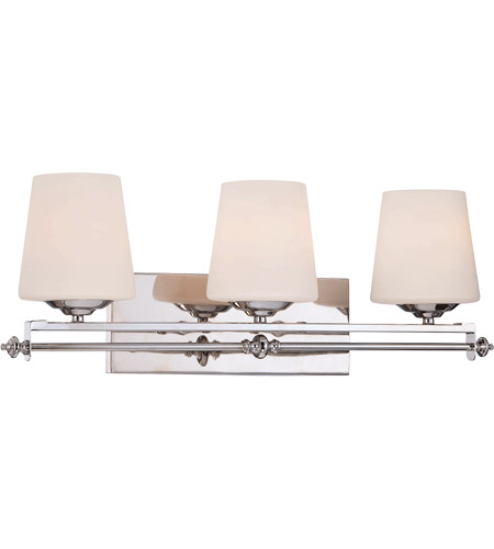 Savoy House Aiden 3 Light Vanity Light in Polished Chrome 8-5850-3-11