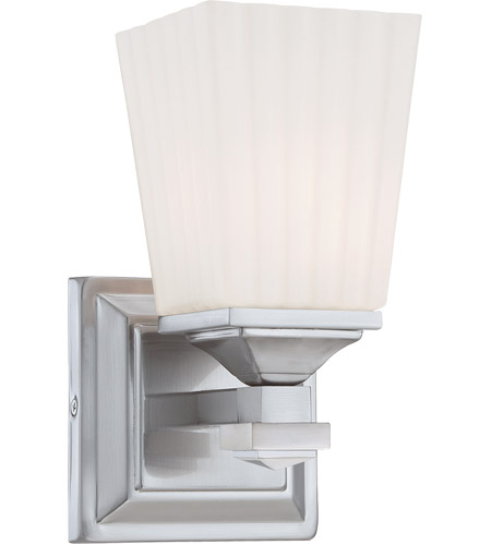 Savoy House Opal 1 Light Vanity Light in Satin Nickel 8-6820-1-SN photo