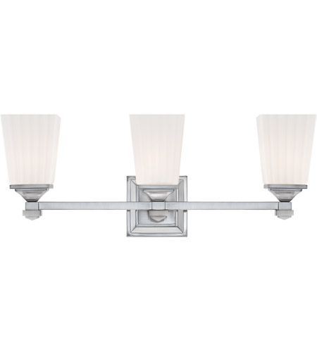 Savoy House Opal 3 Light Vanity Light in Satin Nickel 8-6820-3-SN photo