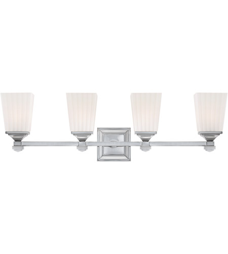 Savoy House Opal 4 Light Vanity Light in Satin Nickel 8-6820-4-SN photo