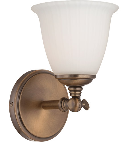 Savoy House Bradford 1 Light Vanity Light in Heirloom Brass 8-6830-1-178 photo