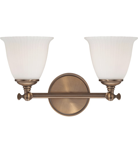 Savoy House Bradford 2 Light Vanity Light in Heirloom Brass 8-6830-2-178 photo